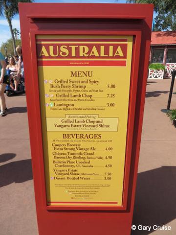 Australia Menu