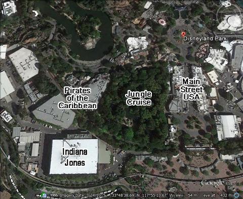 Birds Eye View of Indiana Jones Adventure