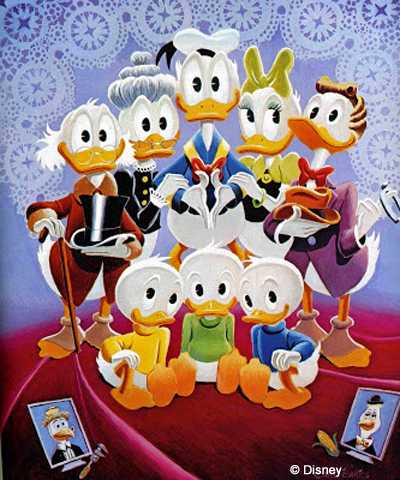 Carl Barks Duck family portrait