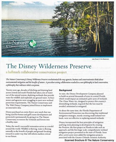 Nature Conservancy Brochure Page 1