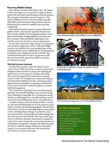 Nature Conservancy Brochure Page 2