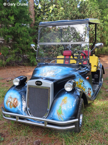 Custom Disney Golf Cart front
