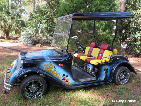 Custom Disney Golf Cart driver side