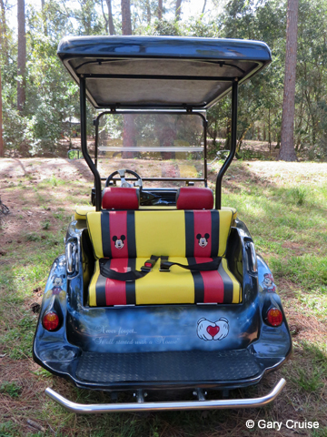 Custom Disney Golf Cart rear