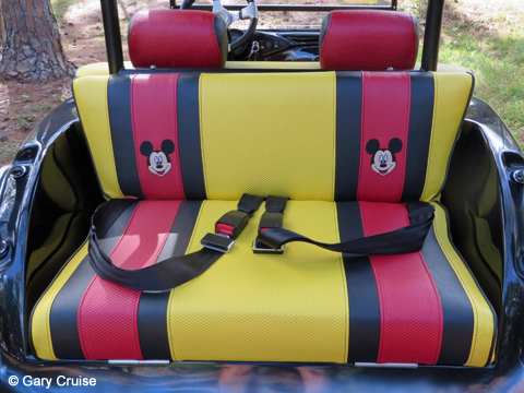 Custom Disney Golf Cart Upholstery