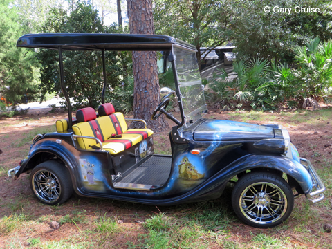 Custom Disney Golf Cart passenger side