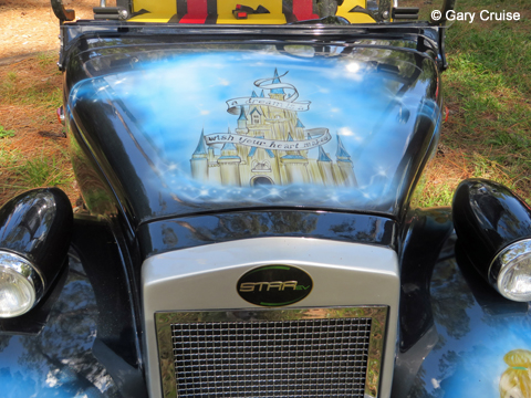 Custom Disney Golf Cart hood