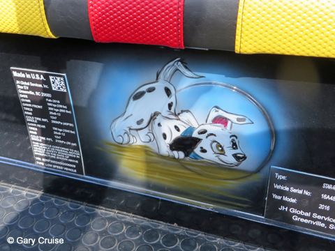 Custom Disney Golf Cart Dalmatian puppy
