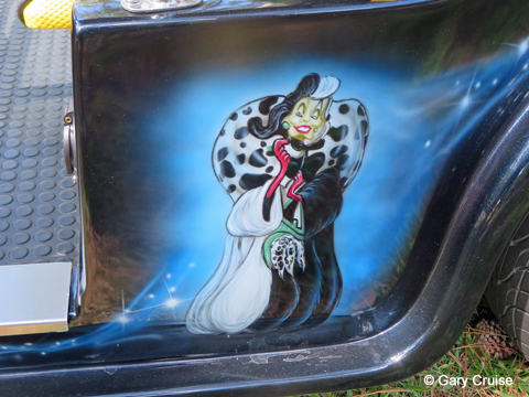 Custom Disney Golf Cart Cruella