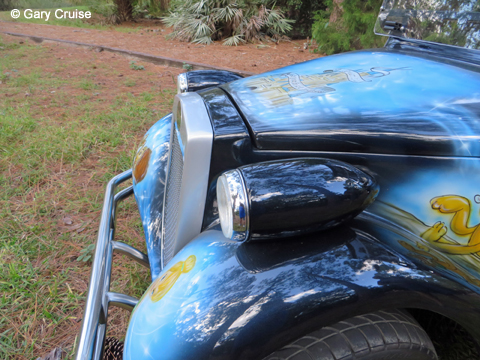 Custom Disney Golf Cart Headlight