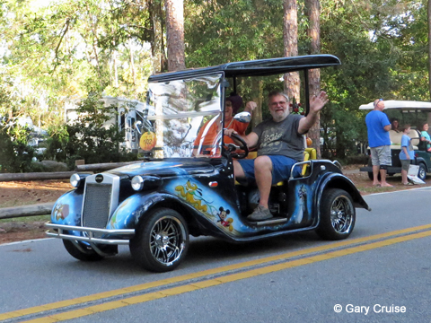 Custom Disney Golf Cart in parade
