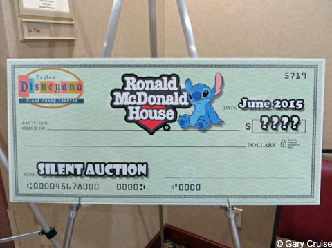 Check to Ronald McDonald House