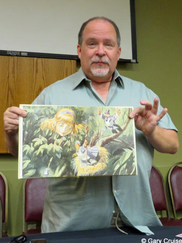 Jim shows the original art