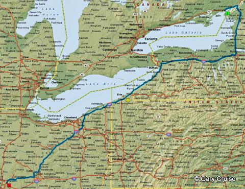 Kingston to Dayton Map