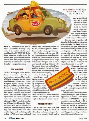 Disney Magazine Spring 2004 page 32