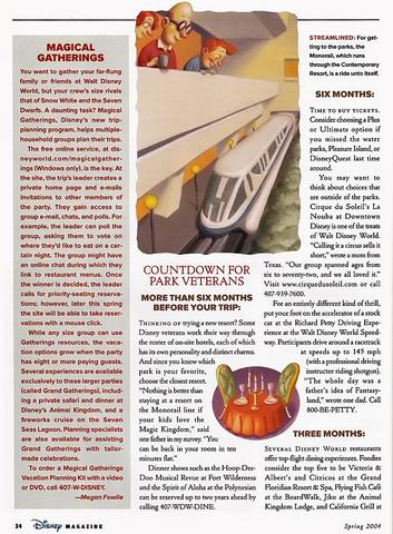 Disney Magazine Spring 2004 page 34