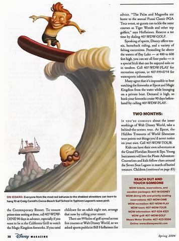 Disney Magazine Spring 2004 page 36