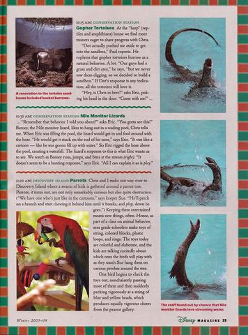 Disney Magazine Winter 2003-04 pg 39