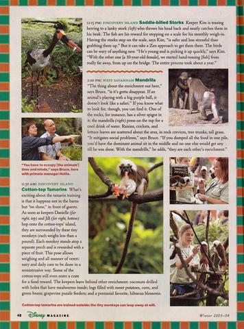 Disney Magazine Winter 2003-04 pg 40