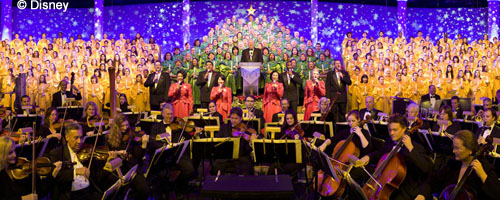 Disney Candlelight Processional choirs