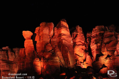 Ornament Valley at night