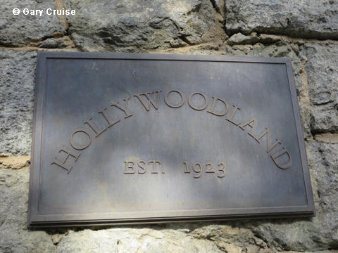 Hollywoodland plaque