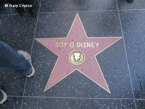 Roy Disney's star