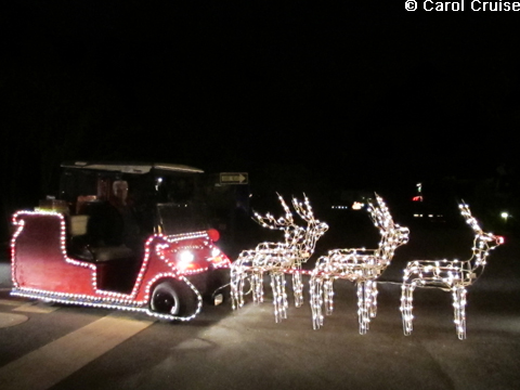 Golf Cart Sleigh with Reindeer