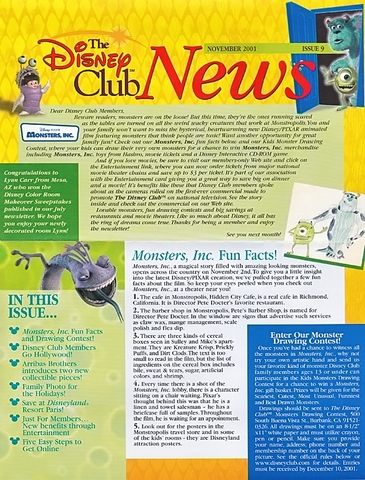Disney Club News Issue 9