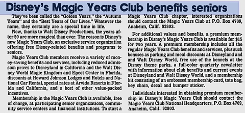 Magic Years News Article