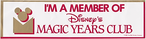 Magic Years Bumper Sticker
