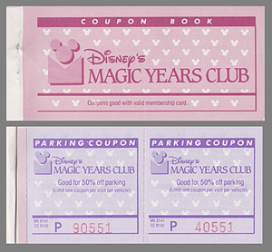 Magic Years Coupon Book