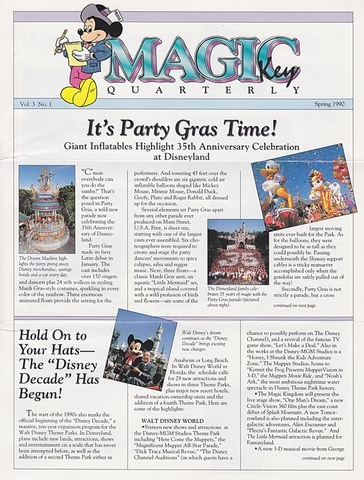 Magic Years Magazine Spring 1990