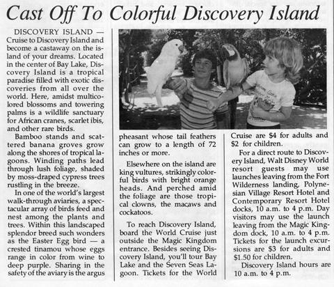 February 1981 Discovery Island