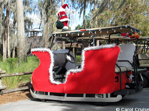 golf cart sleigh - Golf Cart Christmas Decorations