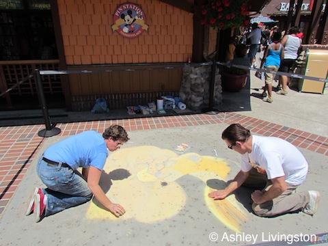 Chalk artists
