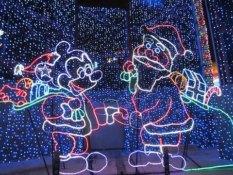 Santa and Mickey