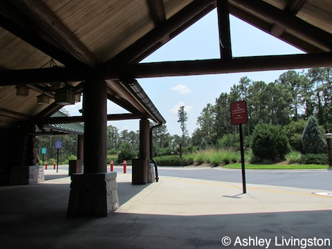 Wilderness Lodge bus stop