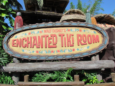 New Tiki Room sign