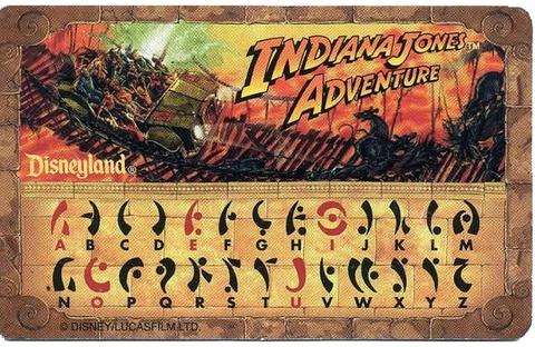 Indiana Jones Decoder Card