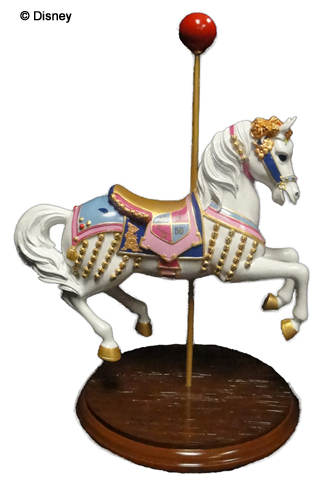 Carousel Horse From Mary Poppins This Version Will Be Sold At Disneyland In Florida Jingles Have A Rider Mickey Mouse Dressed As Dapper Dan