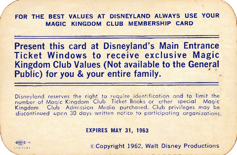Magic Kingdom Club Membership Voucher