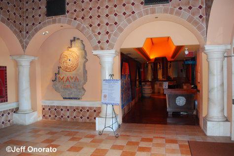 Entrance to Maya Grill
