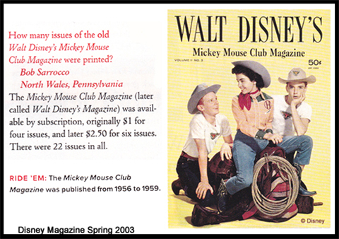 Mickey Mouse Club Magazine