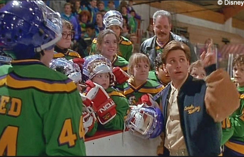 The Mighty Ducks bench