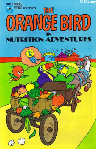 Orange Bird Nutrition Adventures Comic 1980