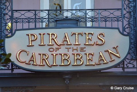 Pirates entry sign
