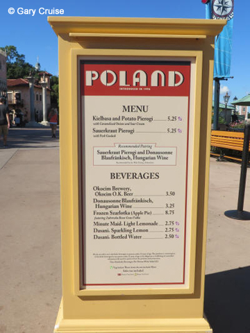 Poland Menu
