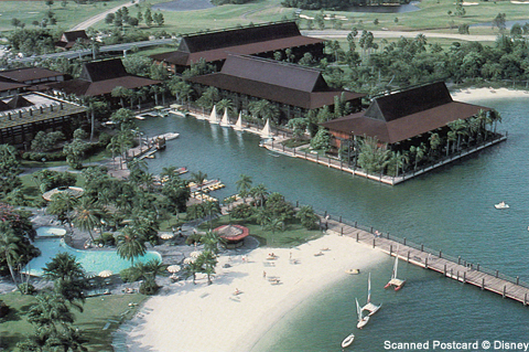 Polynesian Resort from the air