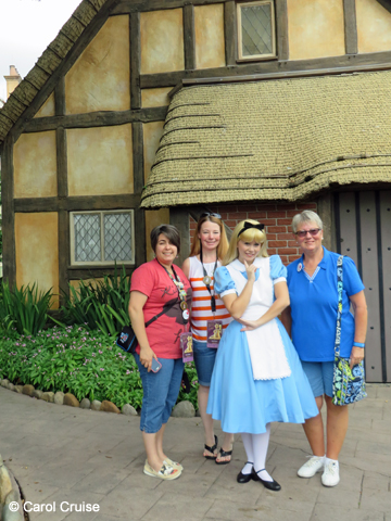 We met Alice on our way to lunch